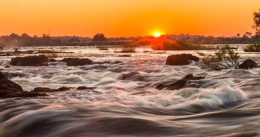 Whitewater rapids are a great photo opportunity while on Victoria Falls tours.