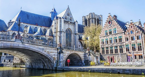A visit to picturesque Ghent with it's Medieval Cathedral is part of your Belgium vacation