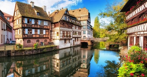 Discover Strasbourg located in German border on your next France tours.