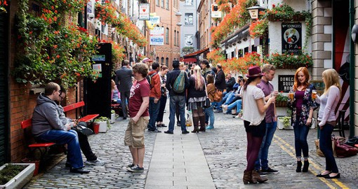 Belfast's narrow cobbled alleyway are a hive of activity
