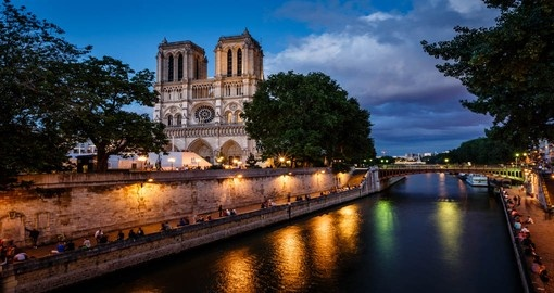 Notre Dame de Paris considered one of the finest examples of French Gothic architecture