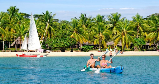 Explore all the amenities of The Beach Bures at Musket Cove during your next Fiji tours.