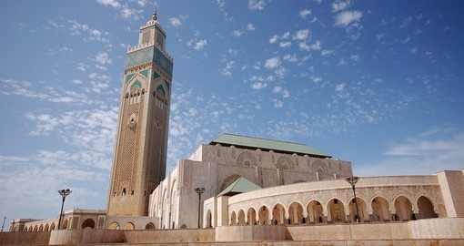 Visit the mosque of Hassan II in Casablanca during your next Morocco vacations.