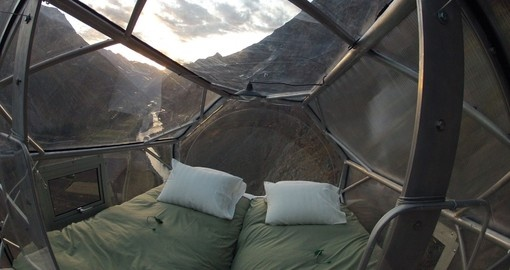 Stay at the Sky Lodge during your Peru vacation.