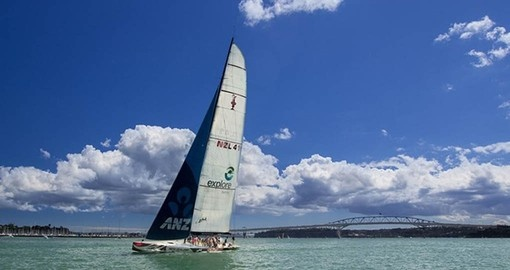 Enjoy the thrill of America's Cup racing on your New Zealand vacation.