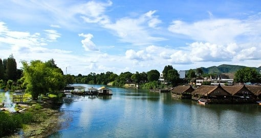 Sail down the Beautiful River Kwai on your Thailand vacation