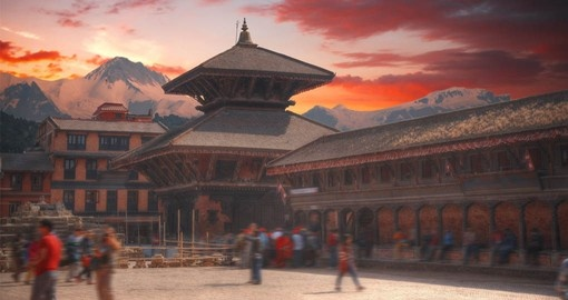 Begin your Nepal Tour in Kathmandu and experience Durbar Square with it's ornate temples
