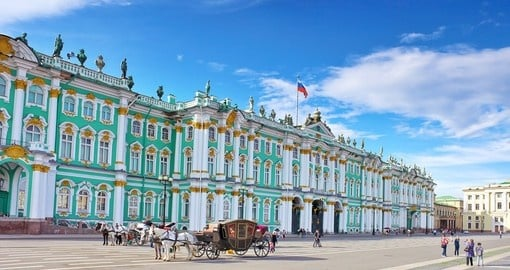 Visit Winter Palace in St Petersburg more known as The Hermitage on your next trip to Russia.