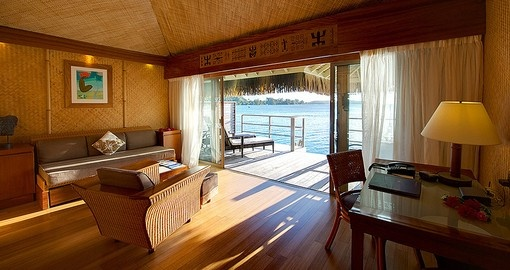 Experience all the amenities of the  Overwater Bungalow  during your next Tahiti vacations.
