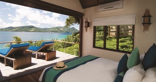 Enjoy beautiful views from your room on your trip to Fiji