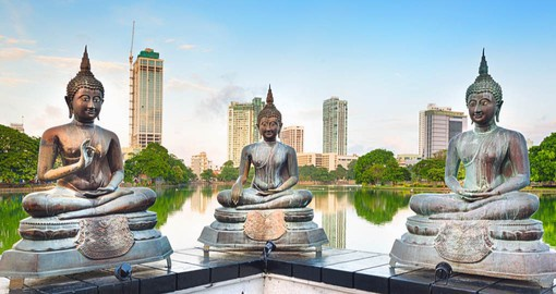 Colombo and the Seema Malaka Temple on Beira Lake are the first stop on your Sri Lanka Vacation