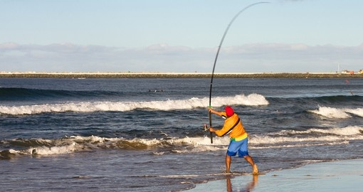 Fishing on the beach in Durban is a popular pastime that you might want to try while on your South African safari.