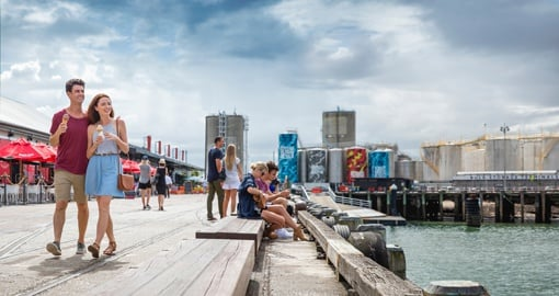 The Wynyard Quarter in Auckland is the perfect place to walk around and check out local shops/eateries.