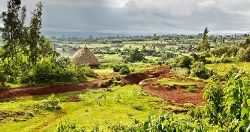 Travelling to Ethiopia you will see the rural landscape of many small village