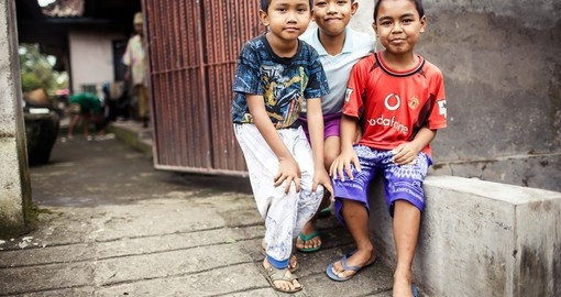 Three Balinese boys