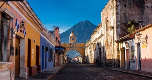 St Catarina Arc and the volcano in Antigua