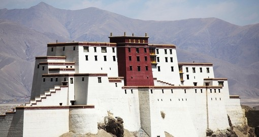 Shigatse Monastery, the most historic and culturally important in Tibet and is a great photo opportunity on all China tours.