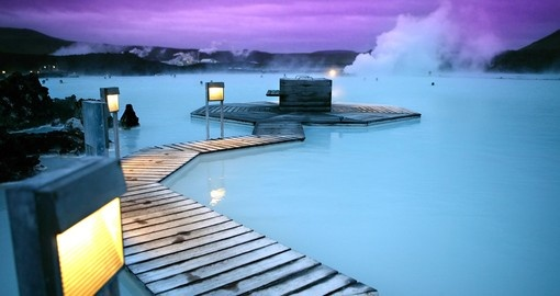 Thermal Springs of Blue Lagoon near Reykjavik