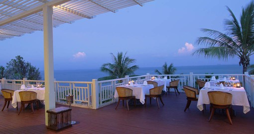 Delight in your favourite dishes while enjoying the stunning sea views of the Andaman Sea