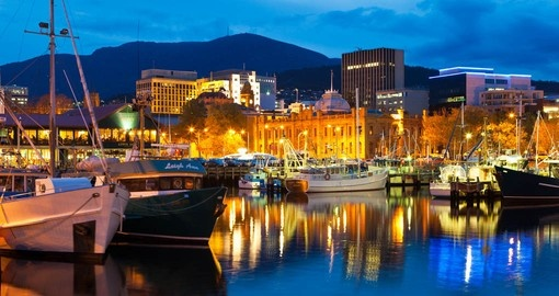 Hobart Waterfront at Dusk