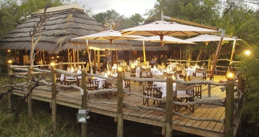 Kapama River lodge dining