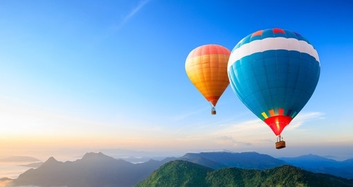 A 60 minute hot air balloon ride above Cairns gives a different perspective to your Australia vacation