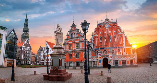 Vibrant Riga, Latvia's capital is dominated by Gothic architecture