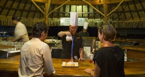 Taste a fresh crepe in Moorea