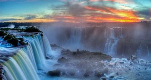Marvel at the power of Iguassu Falls on your Brazil Vacation