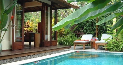 Enjoy all the amenities of the Pavillions during your next Bali vacations.