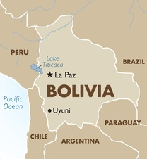 Bolivia Destination Map