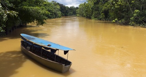 The Tiputini River in the Ecuadorian amazon