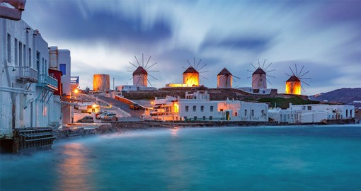 According to legend, Mykonos was formed from the petrified bodies of giants killed by Hercules