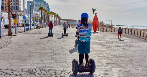 Tel Aviv's promenade is an unforgettable experience for Segway riders