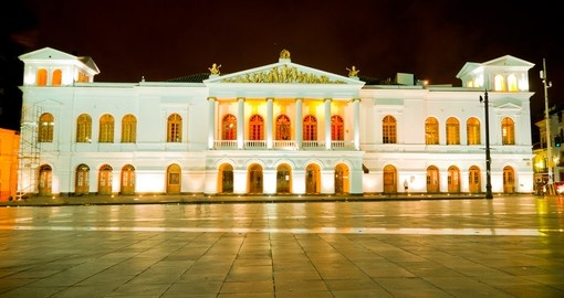Explore the Sucre Theather historic center of Quito on your next trip to Ecuador.