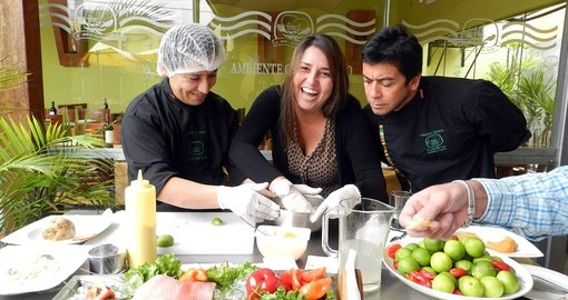 Enjoy traditional Peruvian cuisine on your Peru Vacation