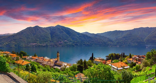 Take in a sunrise over spectacular Lake Como on your trip to Italy