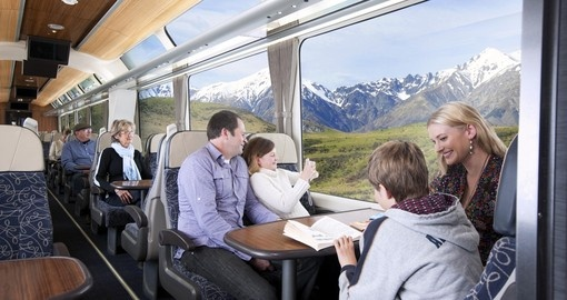 Experience the spectacular scenery from the comfort of New Zealand Rail on your New Zealand Travel Package