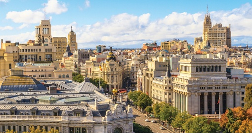Stroll the iconic Gran Via on your Spain Holiday