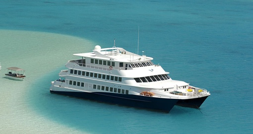 The M/V Haumana will be your vessel during your Bora Bora vacation.