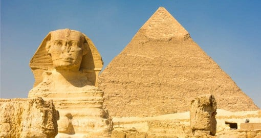 A visit to The Great Pyramids and Sphinx at Giza is the perfect beginning to your Egypt vacation