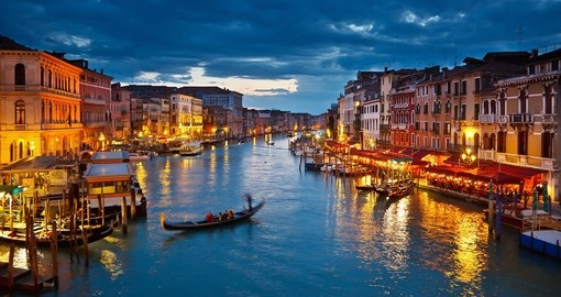 Cruise the iconic Grand Canal on your trip to Italy