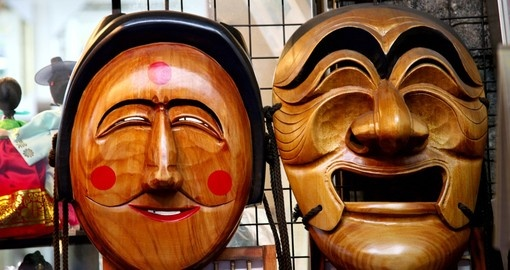 Wooden Hahoe mask
