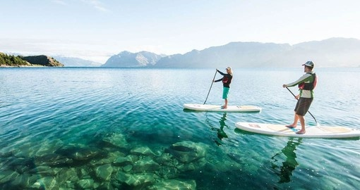 As part of your New Zealand vacation experience Paddle Boarding on Lake Wanaka