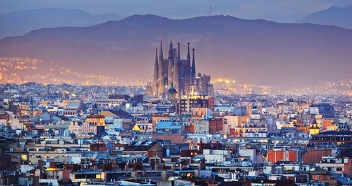 Experience this beautiful Barcelona cities view at Dusk during your next Spain vacations.