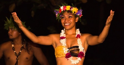 Watching traditional Dancers in Tahaa is a great inclusion to your Tahiti vacation.