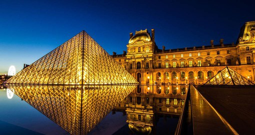 The world's largest art museum, The Louvre opened in 1793 with an exhibition of 537 paintings