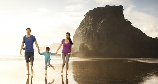 Take the whole family including the kids on a amazing journey through the South Pacific on your New Zealand Vacation