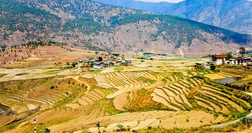 Explore the colourful Bhutan countryside on your trip to Bhutan