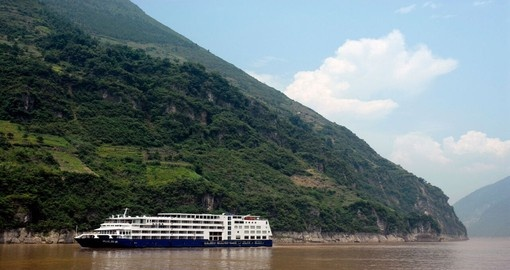 Cruise down the Yangtze River on the Yangzi Explorer during your China Vacation.